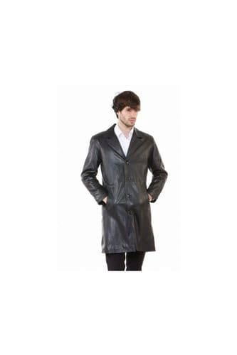 men's Leather coats in black:dylan